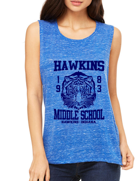 Women's Flowy Muscle Tank Hawkins Middle School 1983 - ALLNTRENDSHOP - 5