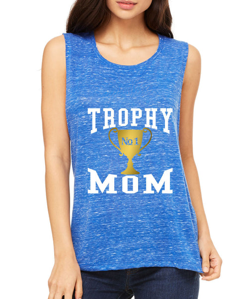 Women's Flowy Muscle Top Trophy Mom Gift Love Mother's Day Top - ALLNTRENDSHOP - 3