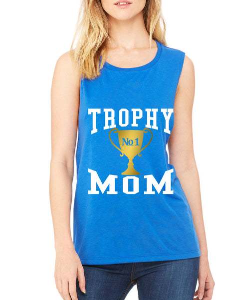 Women's Flowy Muscle Top Trophy Mom Gift Love Mother's Day Top - ALLNTRENDSHOP - 6