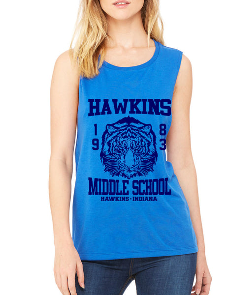 Women's Flowy Muscle Tank Hawkins Middle School 1983 - ALLNTRENDSHOP - 6