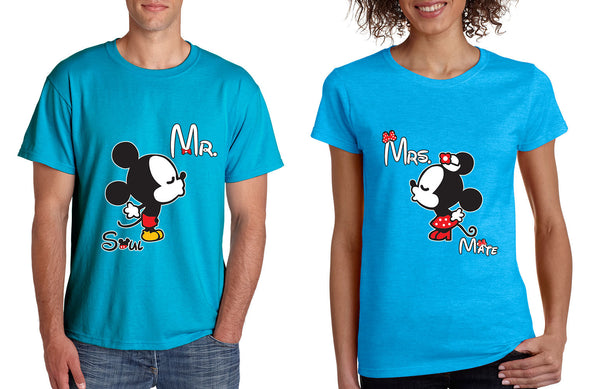 Mr soul Mrs mate kiss couples shirts Valentines day - ALLNTRENDSHOP - 3