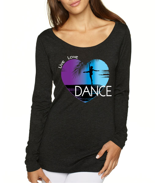 Women's Shirt Dance Art Purple Print Love Cute Gift Nice Top - ALLNTRENDSHOP - 3