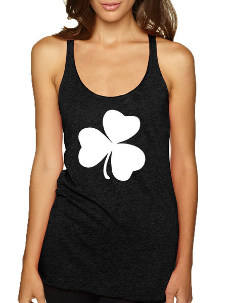 Women's Tank Top White Shamrock Graphic St Patrick's Day Cool - ALLNTRENDSHOP - 2