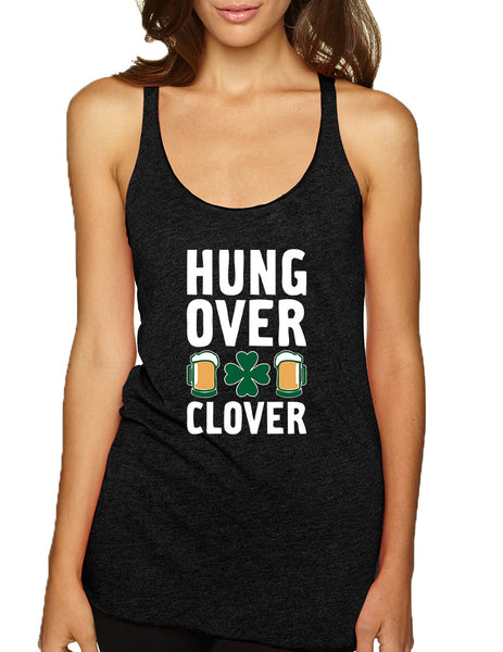 Women's Tank Top Hungover Clover St Patrick's Day Party