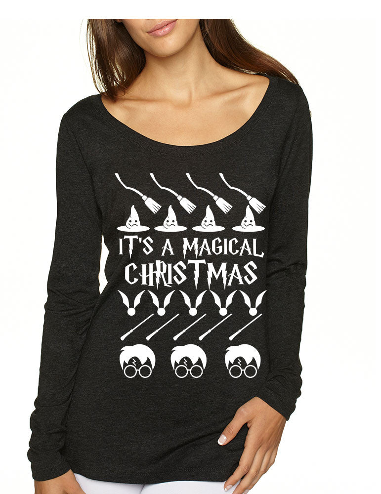 Women's Shirt It's A Magical Christmas Ugly Sweater Cool Gift - ALLNTRENDSHOP - 1