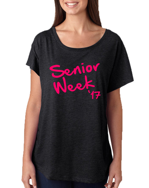 Women's Dolman Senior Week 17 Pink Class Of 2017 Tee