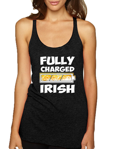 Women's Tank Top Fully Charged Irish St Patrick's Day Top - ALLNTRENDSHOP - 2