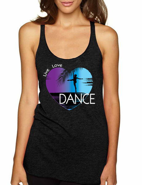 Women's Tank Top Dance Art Purple Print Love Cute Top Nice Gift - ALLNTRENDSHOP - 5