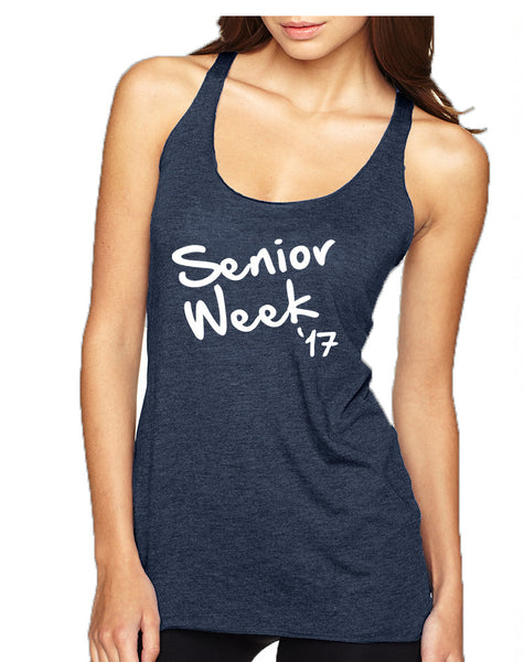 Women's Tank Top Senior Week 17 White Class Of 2017 Party