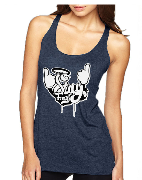 Women's Tank Top Stay Fresh Fingers Up Cool Cute Top