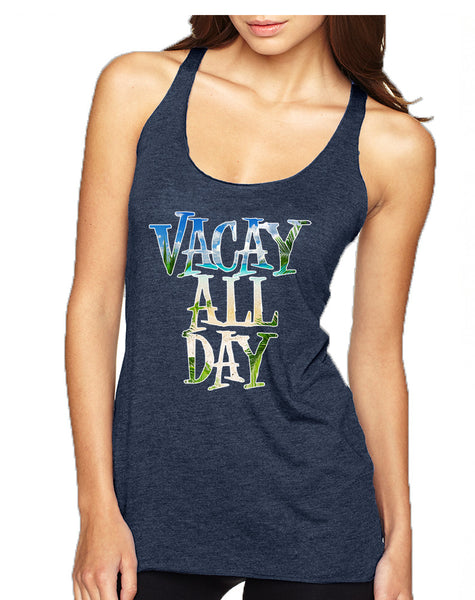 Women's Tank Top Vacay All Day Vacation Summer Beach Top