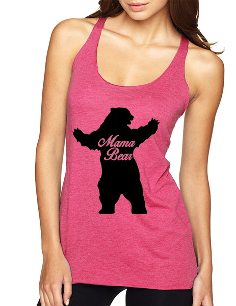 Women's Tank Top Mama Bear Family Top Mother Holiday Gift - ALLNTRENDSHOP - 6