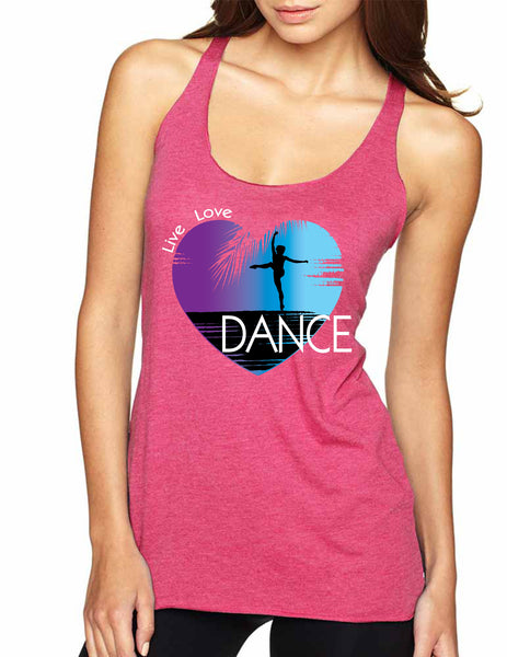 Women's Tank Top Dance Art Purple Print Love Cute Top Nice Gift - ALLNTRENDSHOP - 6