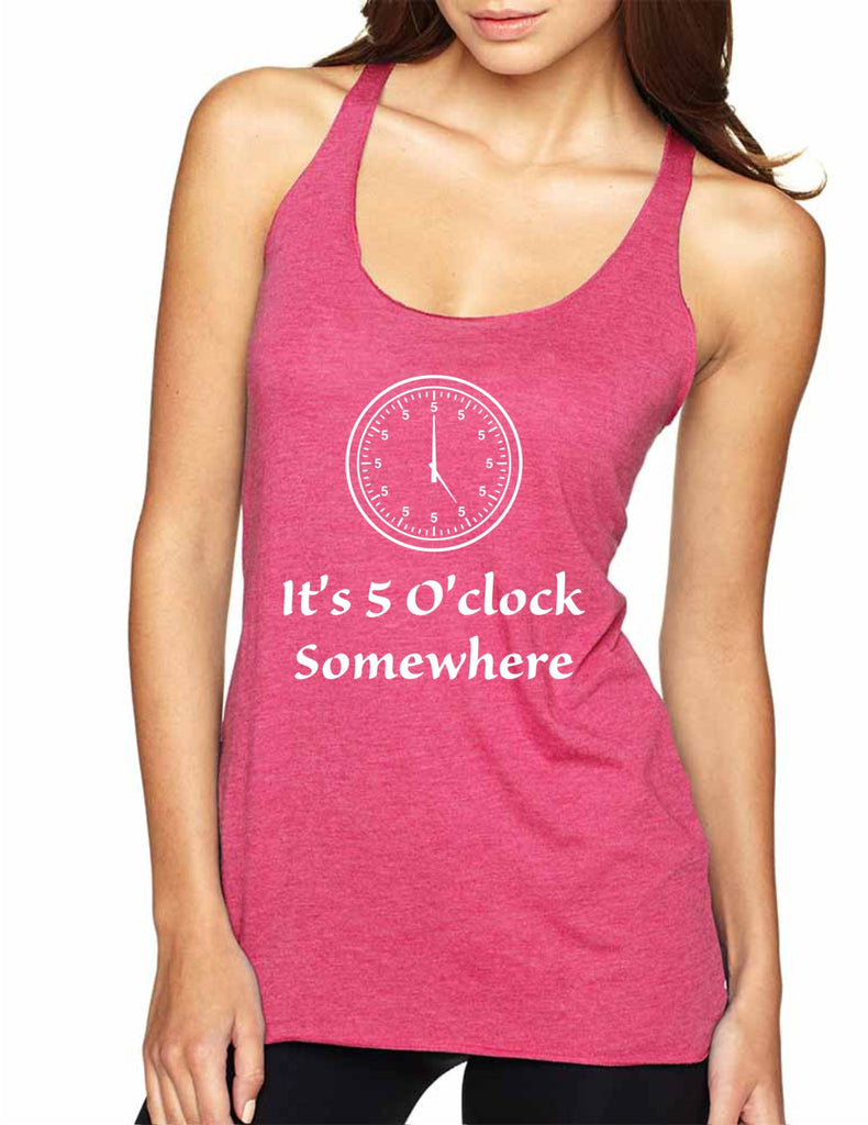 Women's Tank Top It's 5 O'clock Somewhere Drinking Party Top - ALLNTRENDSHOP - 1
