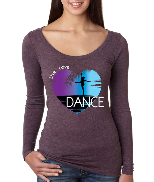 Women's Shirt Dance Art Purple Print Love Cute Gift Nice Top - ALLNTRENDSHOP - 4