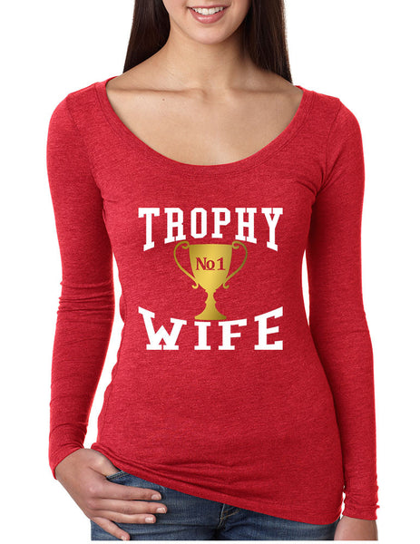 Women's Shirt Trophy Wife Cool Xmas Love Family Holiday Gift - ALLNTRENDSHOP - 1