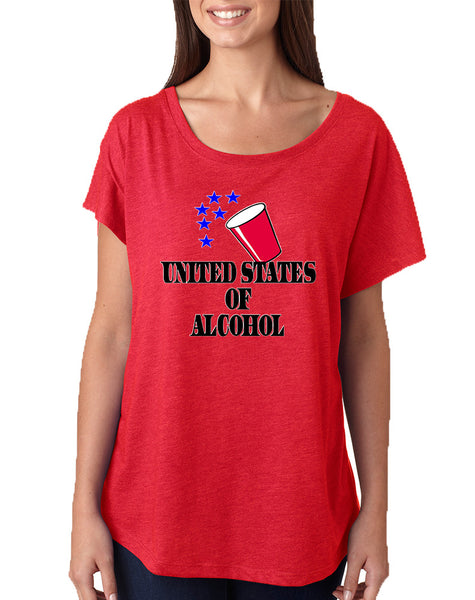 Women's Dolman United States Of Alcohol 4th Of July Top