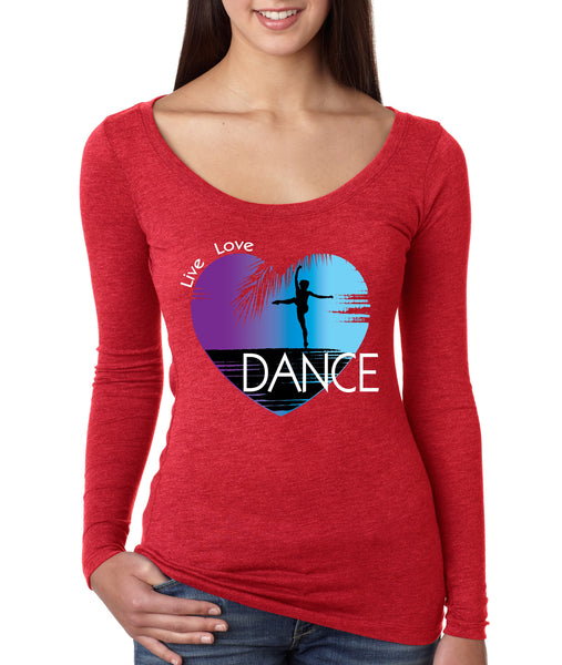 Women's Shirt Dance Art Purple Print Love Cute Gift Nice Top - ALLNTRENDSHOP - 5