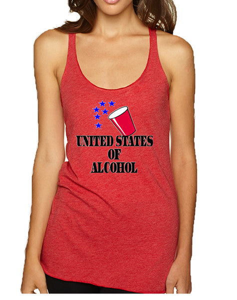 Women's Tank Top United States Of Alcohol 4th Of July