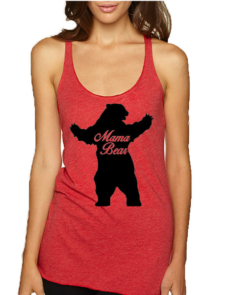 Women's Tank Top Mama Bear Family Top Mother Holiday Gift - ALLNTRENDSHOP - 7