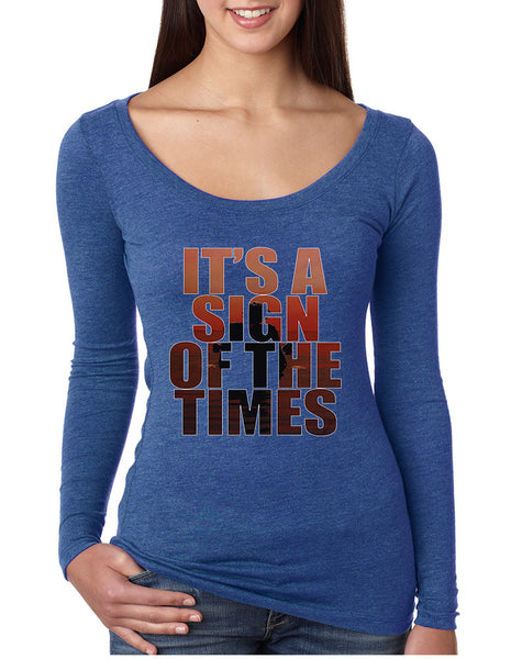 Women's Shirt It's A Sign Of The Times Styles Shirt Popular Top