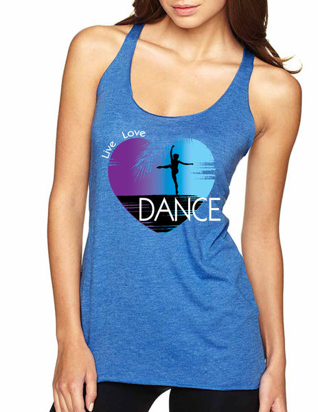 Women's Tank Top Dance Art Purple Print Love Cute Top Nice Gift - ALLNTRENDSHOP - 7