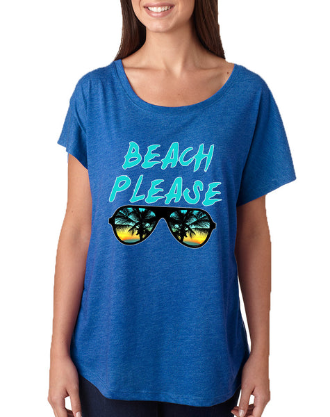 Women's Dolman Beach Please Summer Vacation Beachwear