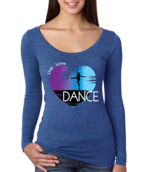 Women's Shirt Dance Art Purple Print Love Cute Gift Nice Top - ALLNTRENDSHOP - 6
