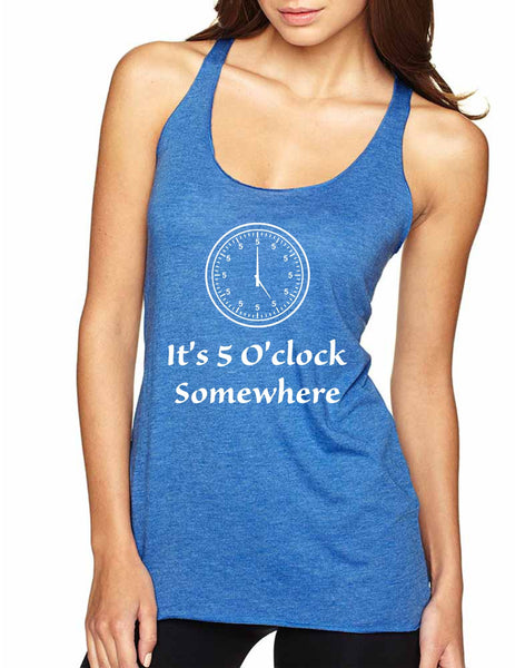 Women's Tank Top It's 5 O'clock Somewhere Drinking Party Top - ALLNTRENDSHOP - 2