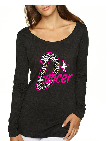 Dancer White Leopard cheetah women`s long sleeve Pullover - ALLNTRENDSHOP