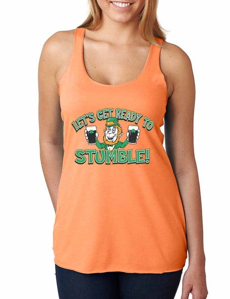 let`s get ready to stumble St patrick women tanktop - ALLNTRENDSHOP - 3