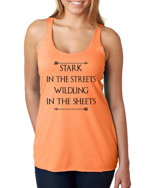 Stark in the streets wildling in the sheets Women Triblend Tanktop - ALLNTRENDSHOP - 3