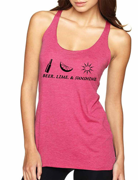Beer lime and sunshine Women's Triblend Tanktop - ALLNTRENDSHOP