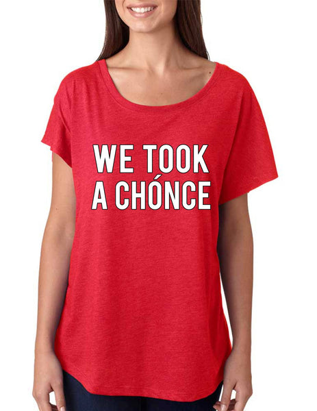 Niall Horan We took a chonce Women's Tri-Blend Dolman - ALLNTRENDSHOP - 1