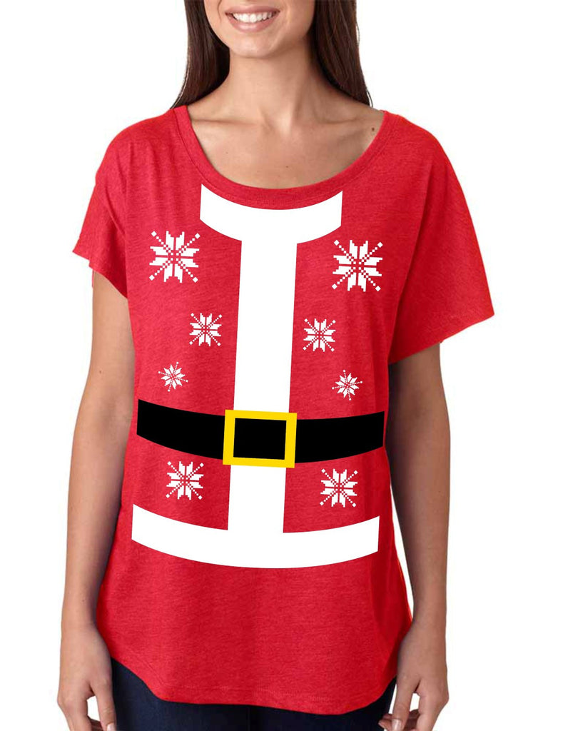 Santa suit Women's Tri-Blend Dolman shirt - ALLNTRENDSHOP - 1