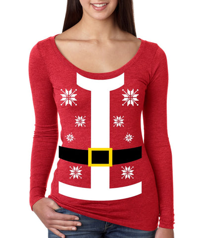 Santa suit Women's Long Sleeve Shirt - ALLNTRENDSHOP - 1