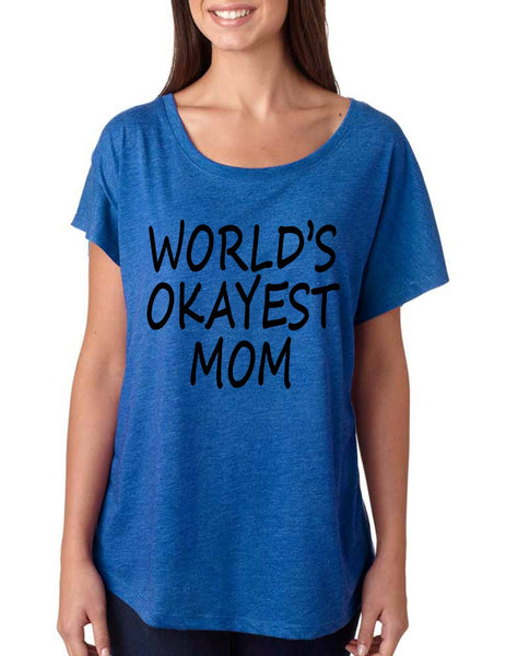 World's OKayest mom mothers day women's triblend dolman shirt - ALLNTRENDSHOP - 2