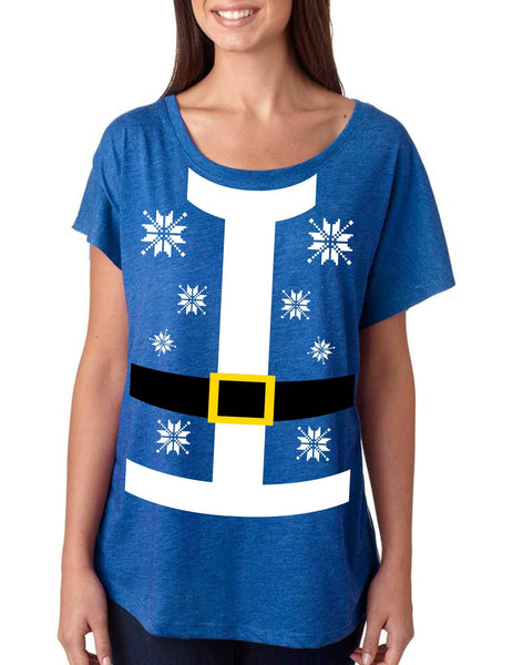 Santa suit Women's Tri-Blend Dolman shirt - ALLNTRENDSHOP - 2