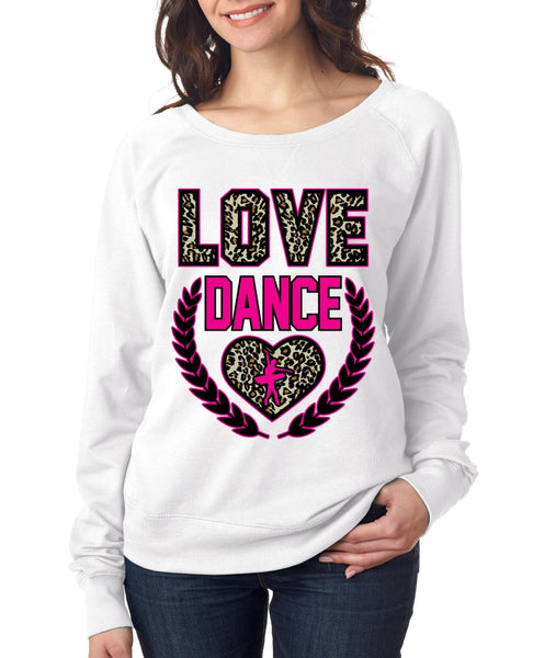Love Dance Leopard Womens long sleeve Pullover - ALLNTRENDSHOP - 1