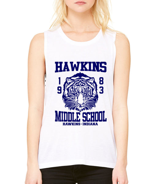 Women's Flowy Muscle Tank Hawkins Middle School 1983 - ALLNTRENDSHOP - 8