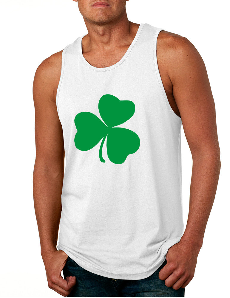 Men's Tank Top Green Shamrock Graphic St Patrick's Day Top - ALLNTRENDSHOP - 1