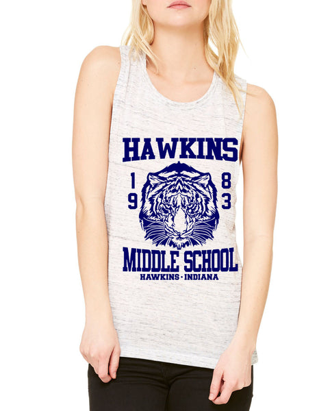 Women's Flowy Muscle Tank Hawkins Middle School 1983 - ALLNTRENDSHOP - 7