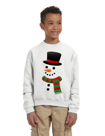Kids Crewneck Snowman Ugly Christmas Cool Xmas Gift Top