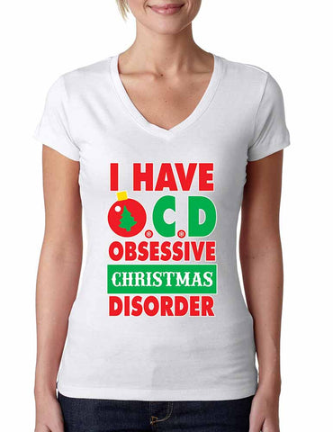 Obsessive christmas disorder Women's Sporty V - ALLNTRENDSHOP - 1
