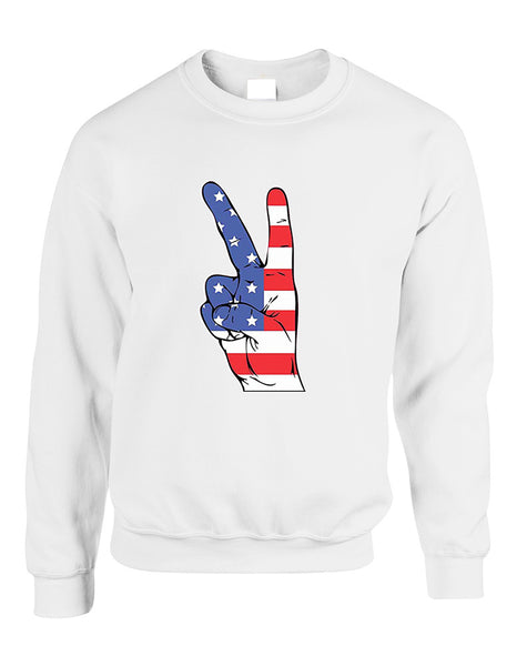 Adult Sweatshirt American Flag Hand 4th Of July Cool Top