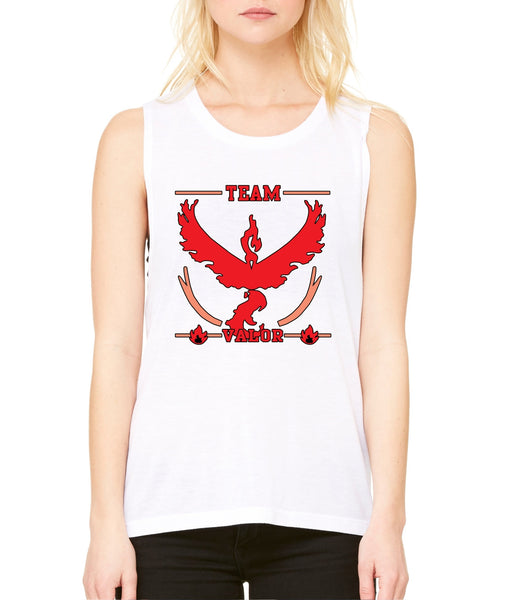 Women's Flowy Muscle Top Team Valor Red Team Top - ALLNTRENDSHOP - 5