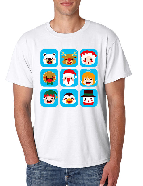Men's T Shirt Christmas Icons Cool Ugly Xmas Symbols Shirt - ALLNTRENDSHOP - 5