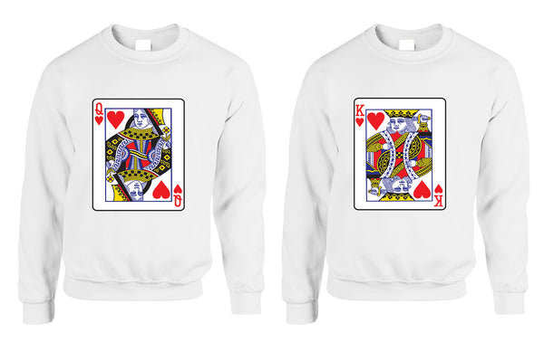 King and Queen matching couples sweatshirt Valentines day - ALLNTRENDSHOP - 1