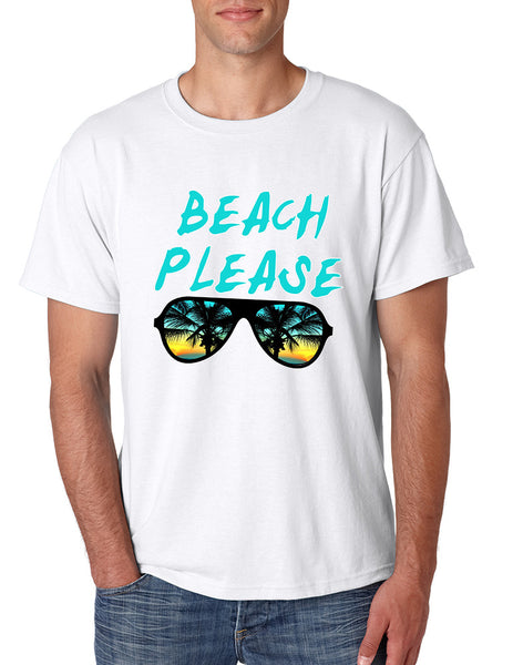 Men's T Shirt Beach Please Love Summer Vacation Beachwear