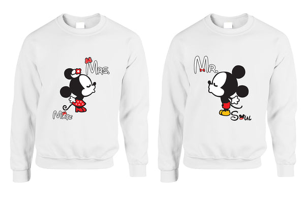 Mr soul Mrs mate kiss couples sweaters Valentines day - ALLNTRENDSHOP - 2